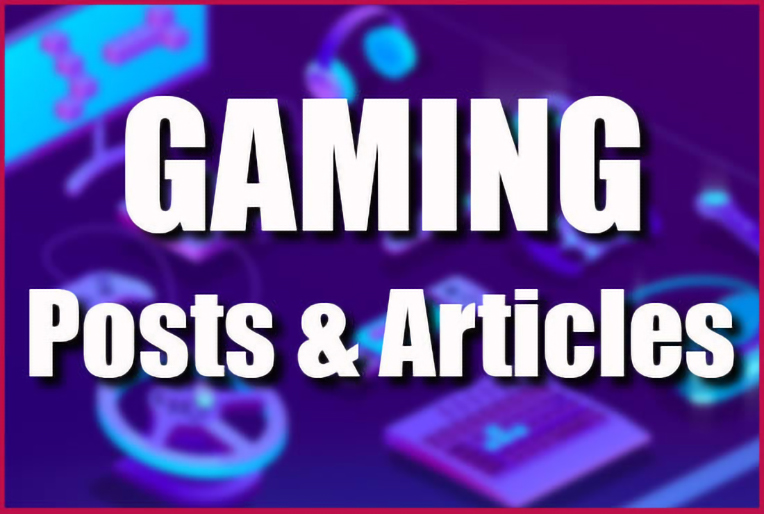 I will write an engaging gaming blog post or article with SEO