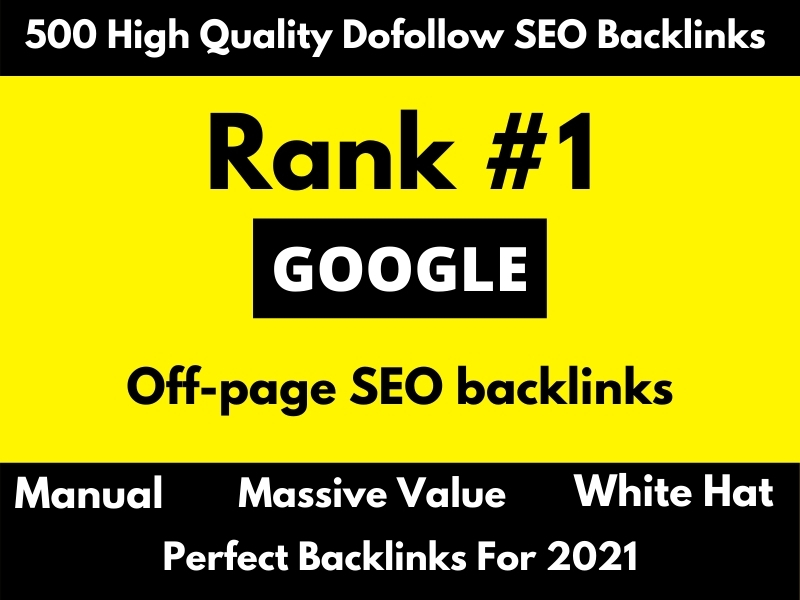 500 high da dofollow SEO backlinks link building for google ranking