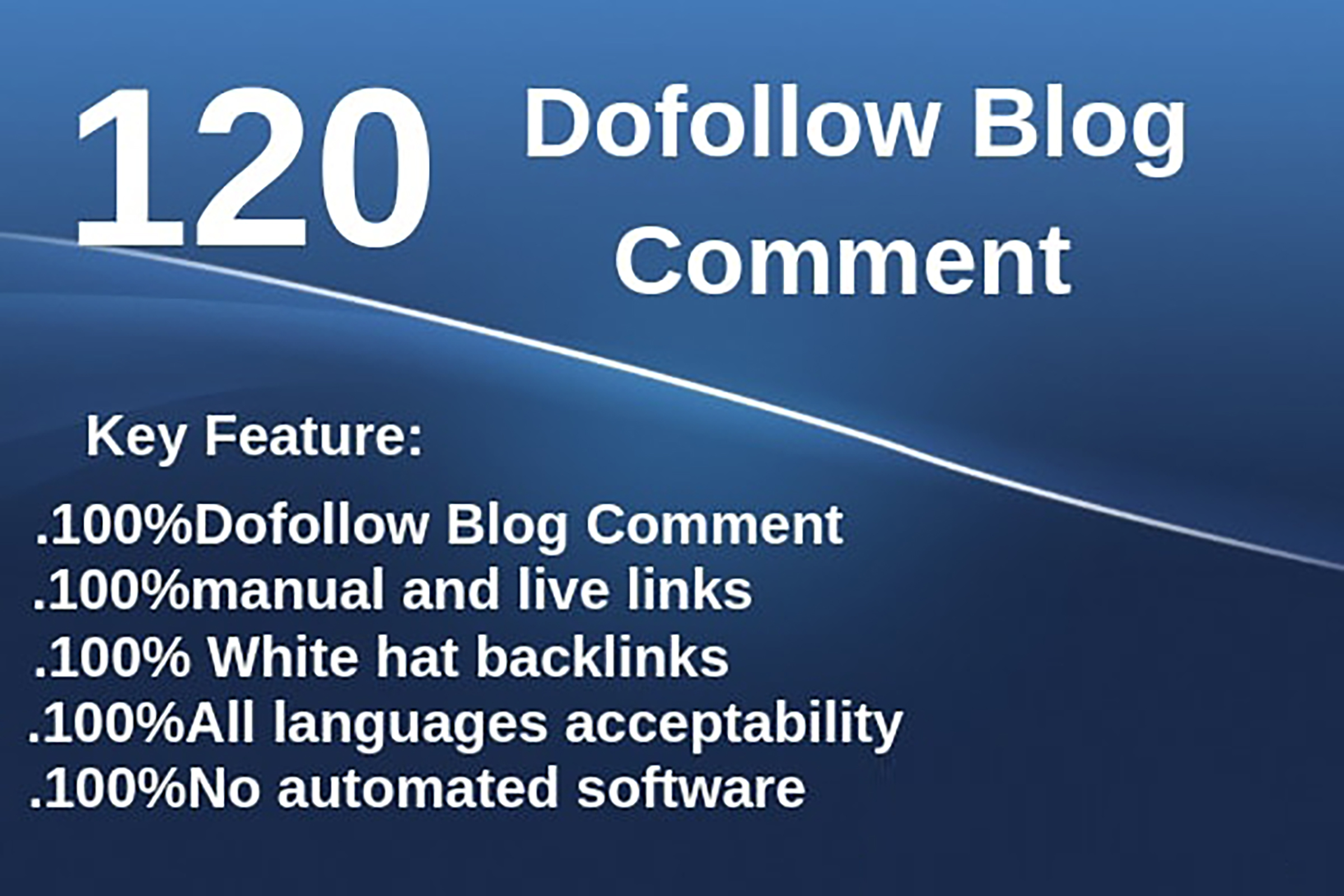 I will create 120 dofollow blog comments backlinks high da pa sites