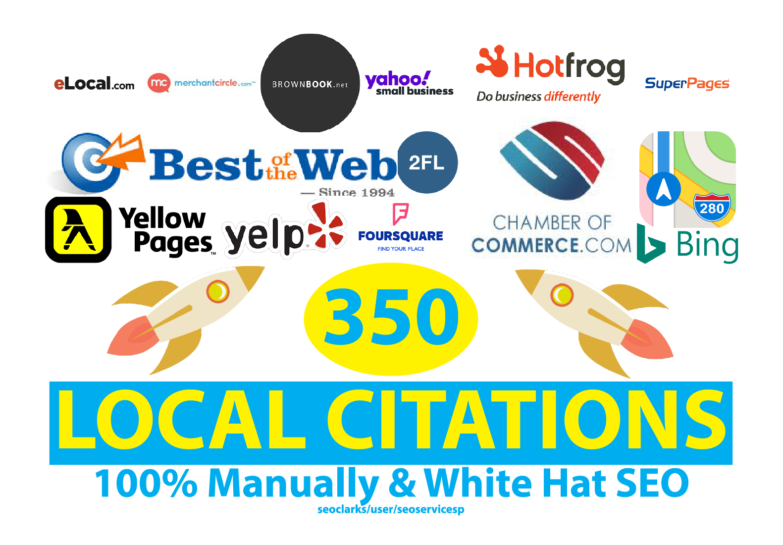 Manually Do Top 350 Local SEO Citations Or Local Listing For USA