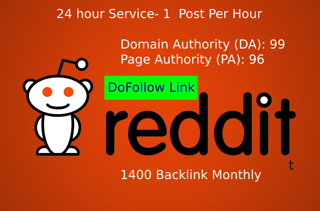 Dofollow Backlinks from Reddit SUPERSTRONG DA97 High Quality,  Daily Posting,  Guest Posting