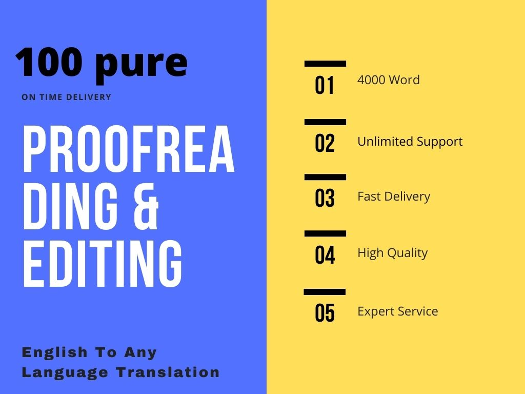 Proofreading Editing & Translation