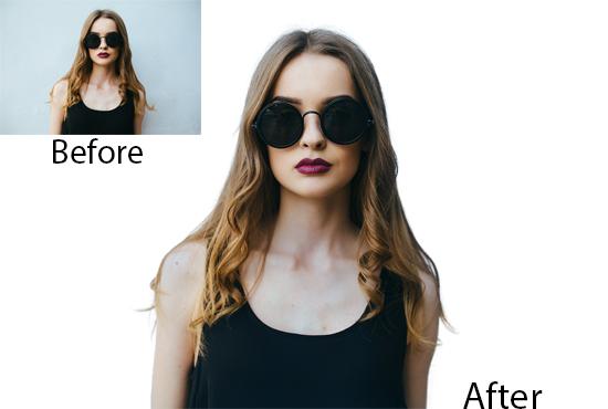 Image background removal, photo resizing