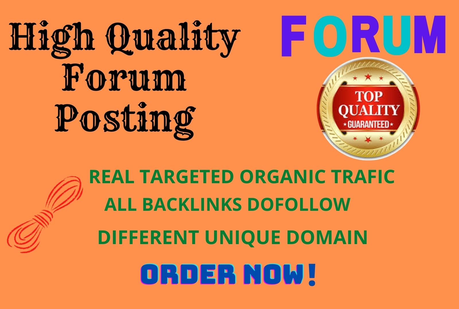40 top quality forum posting backlinks on DA 50+ website
