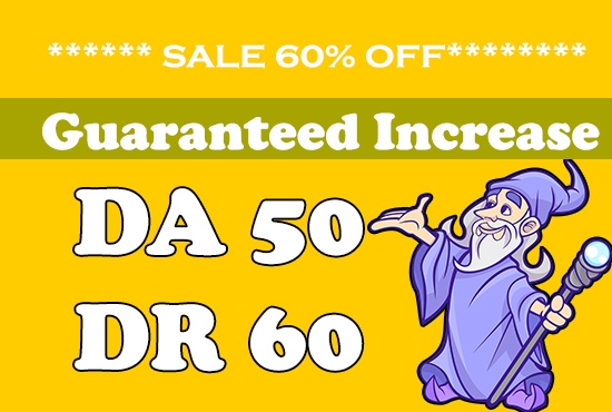 I will increase domain rating DR & Domain Authority DA 50+