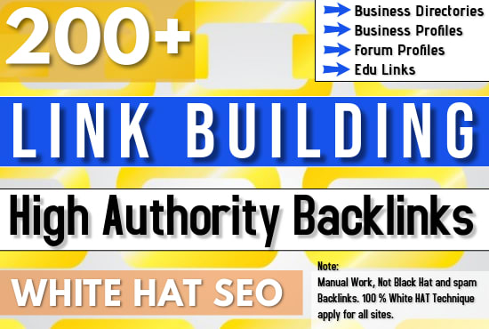 Build 150+ SEO backlinks white hat manual link building For the top google ranking
