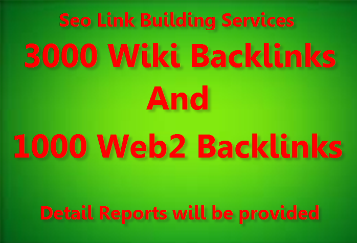 Diversify Link Building Services - Get 3000 Wikis and 1000 Web2, 0 Backlinks