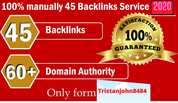 Create 45 Backlinks from High DA-60+ Domains-Skyrocket your Google RANKINGS NOW