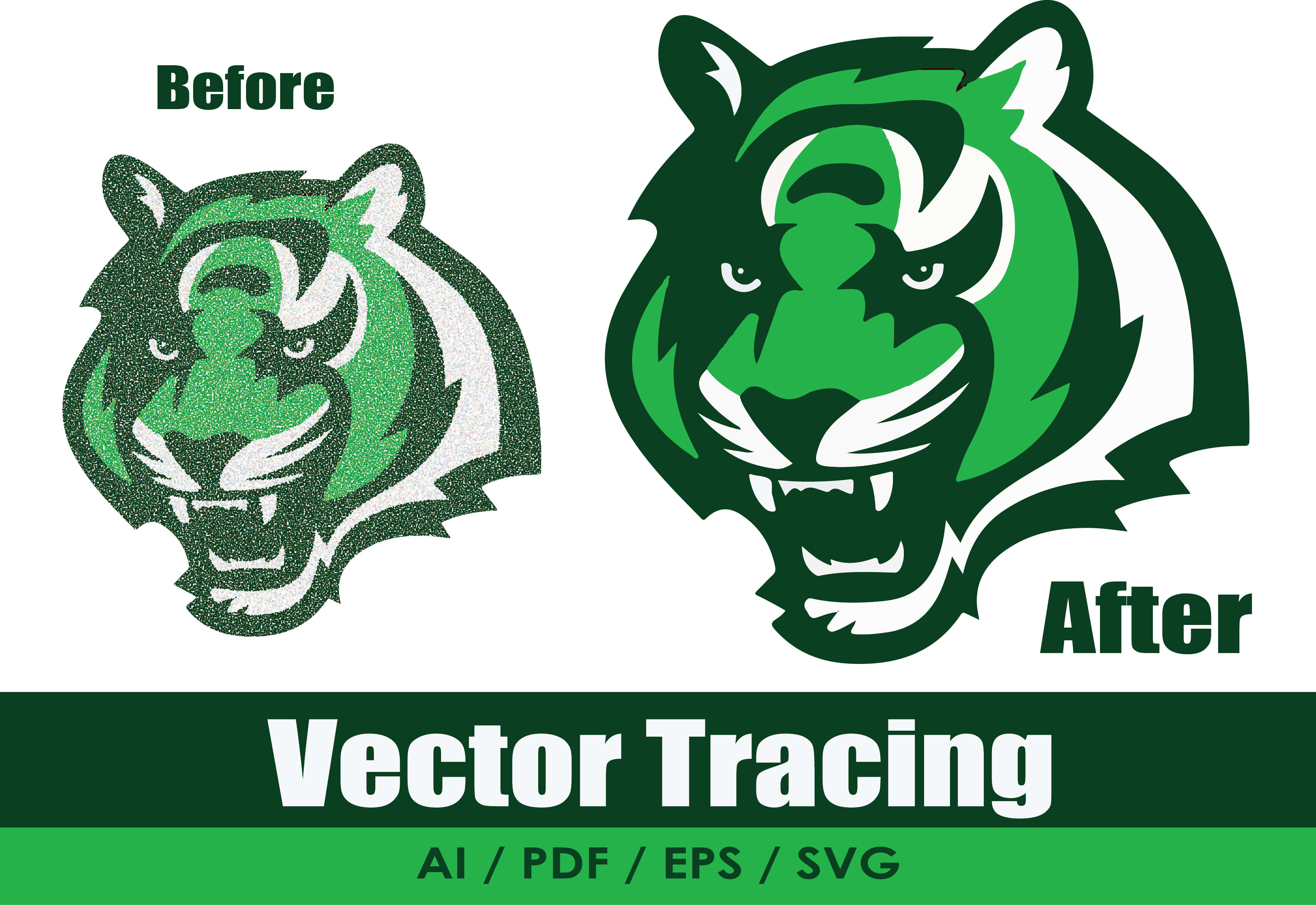 I will change over to vector tracing,  redraw logo,  vectorize picture