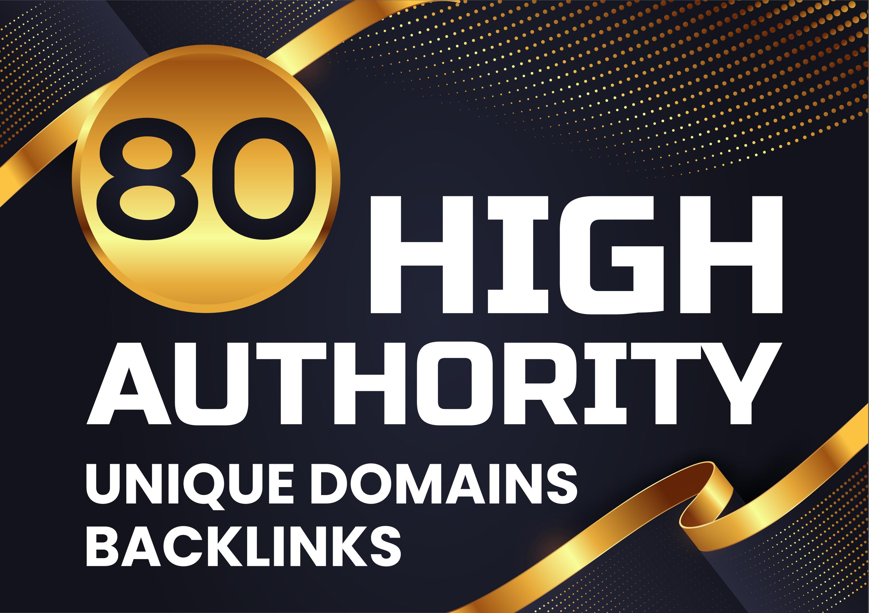 MANUALLY Do 80 Unique PR10 Backlinks On DA 90 Sites Plus EDU Links