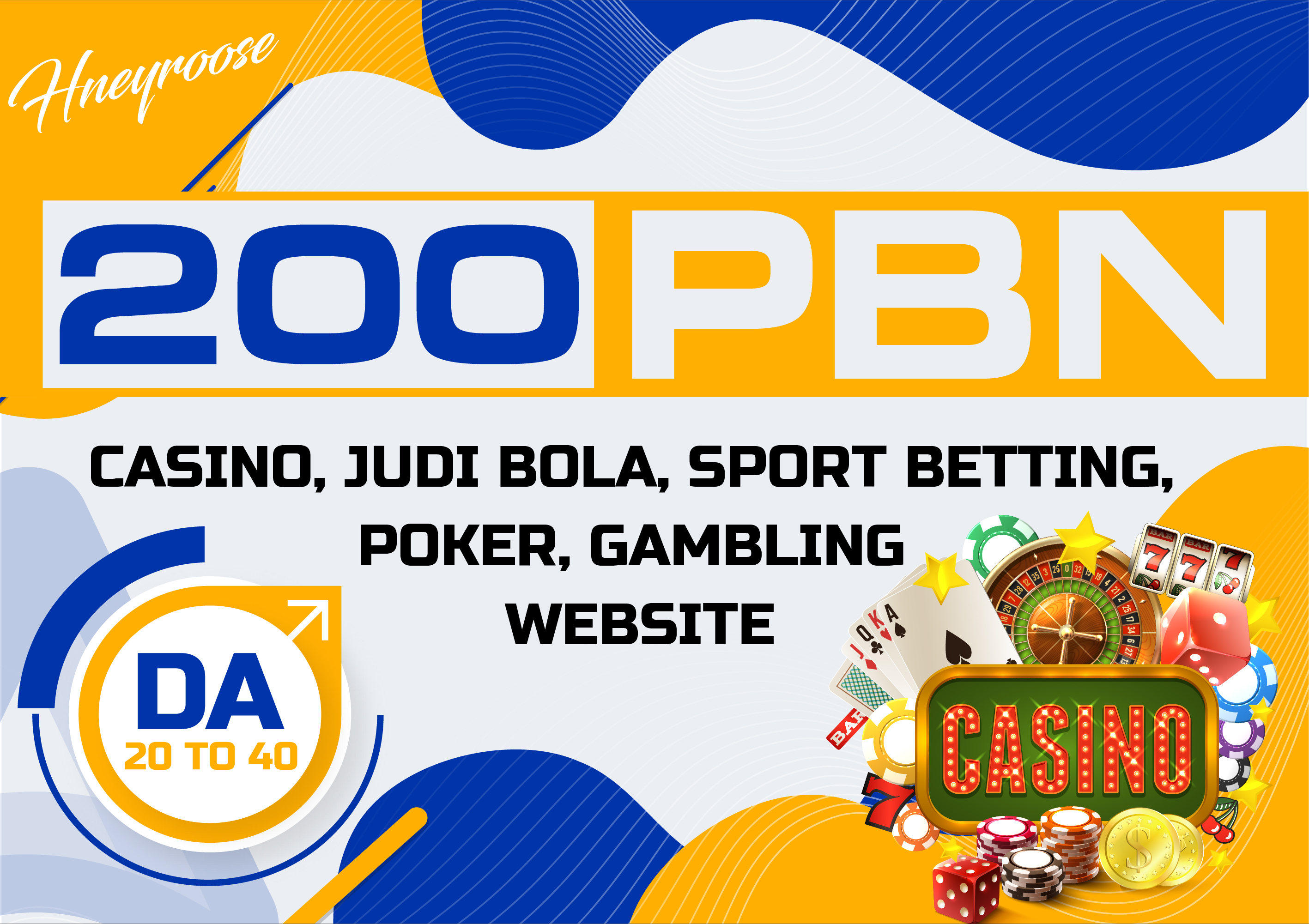 Top quality 200 CASINO/ Poker/Gambling PBN Unique Backlinks