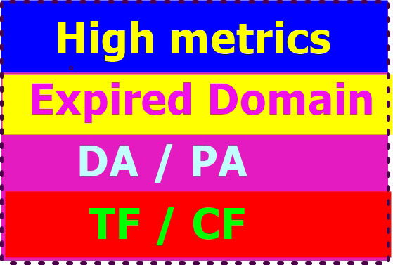 I will search 20 high da pa expired domains for you