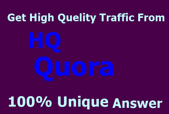 High Quality 15 Quora Answer With Website link