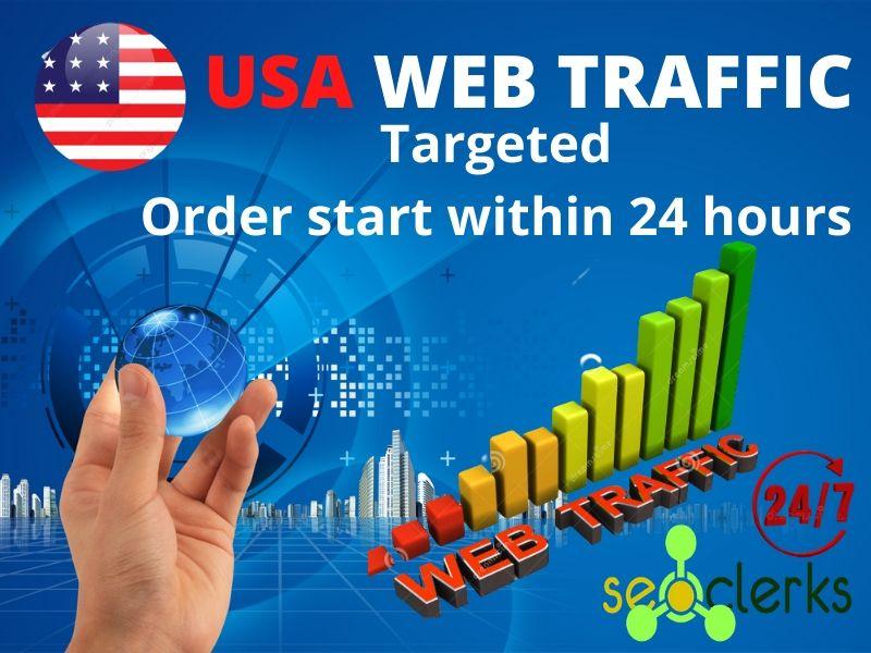 I will provide niche targeted USA web traffic.