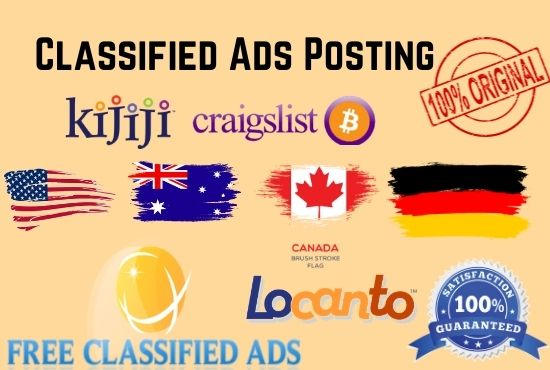 I will publish your classified ads top pr posting sites any country