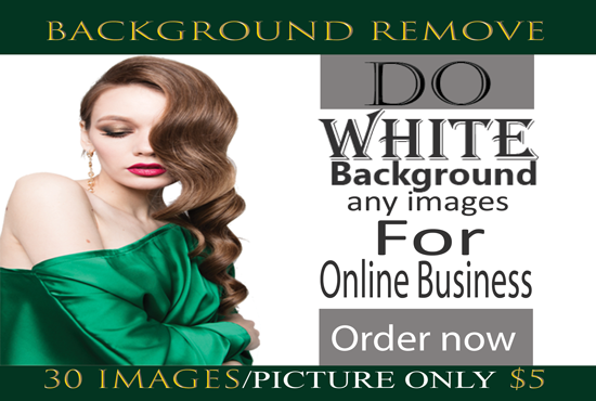 I will do remove white background of your 30 images