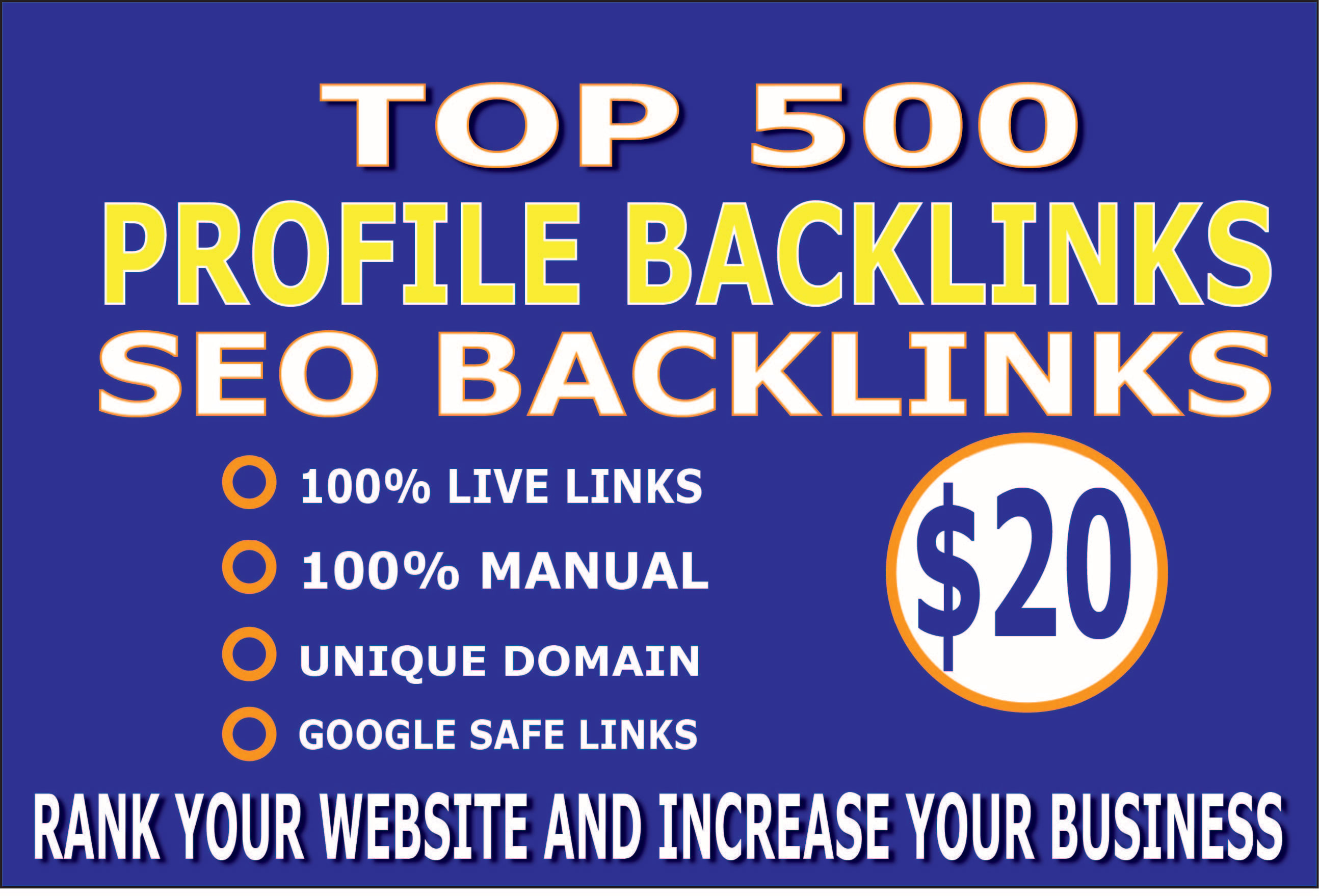 I will create 500 profile SEO backlinks for website ranking