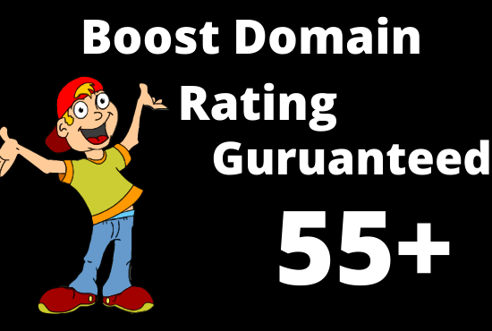 I will increase domain rating ahrefs DR to 55 plus