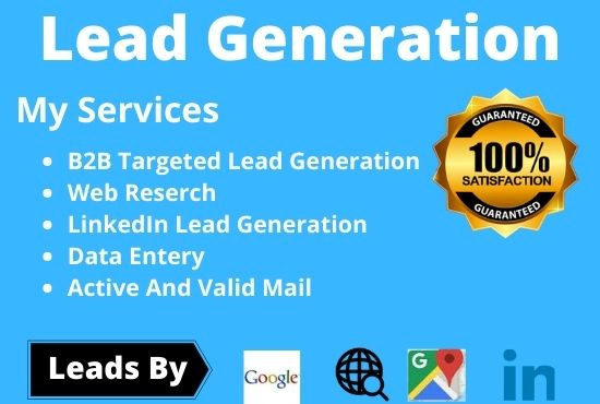 100 targeted b2b lead generation & LinkedIn lead generation for your business