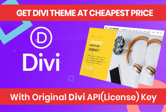 Divi Theme and Divi Builder with License and Unlimited Usage Updatable