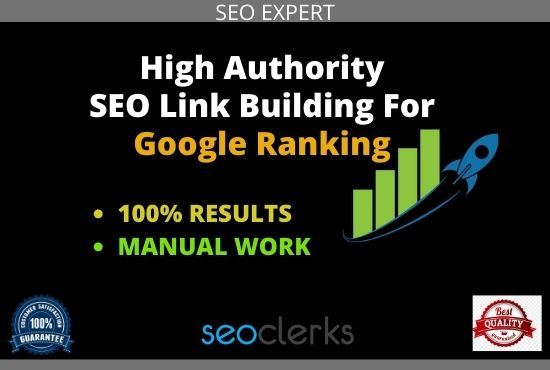 I will do SEO service with manual link building and authority backlinks