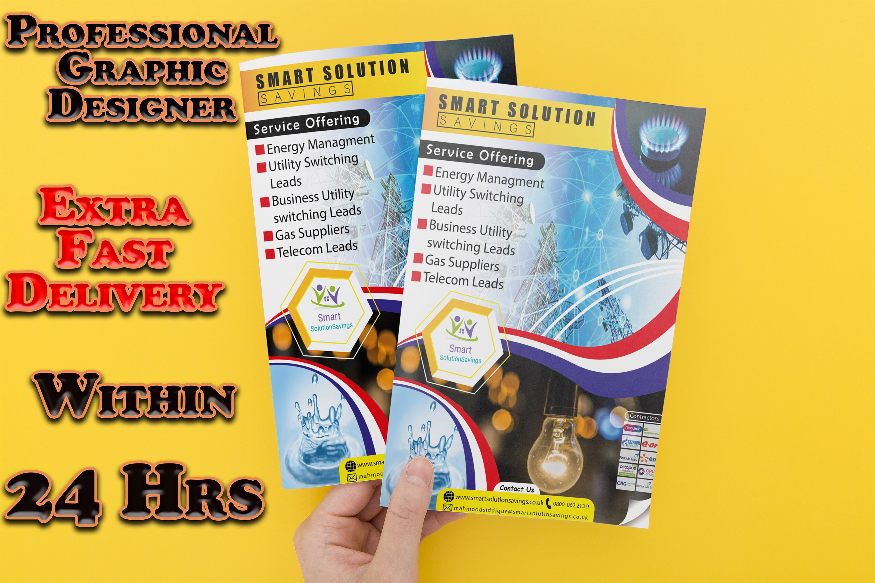 I will design a professional flyer, brochure for you