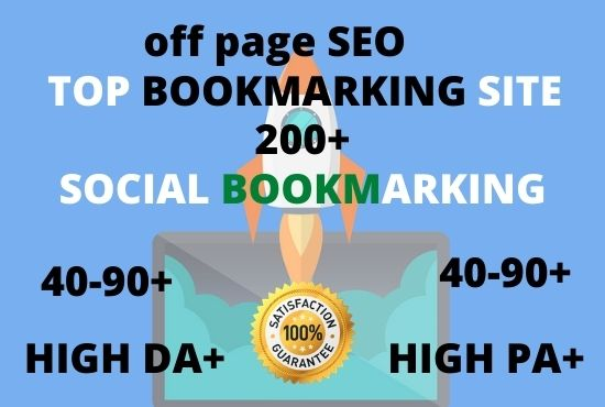 I will do 200 plus social bookmarking submission with high quality backlinks, Off page SEO