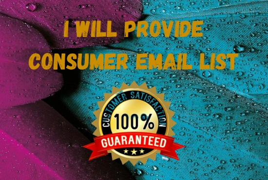 I will provide you active consumer email list