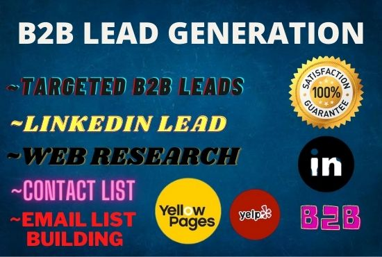 I will do B2B targeted lead generation