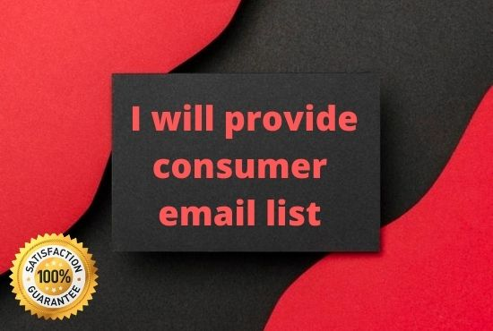 I Will Provide You Consumer Email List