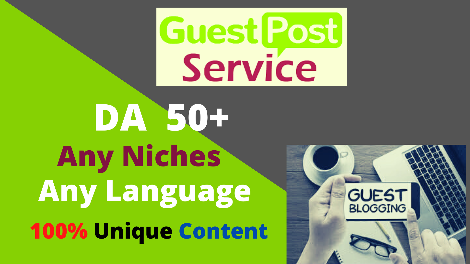 Write and Publish High Authority 10 Guest Post DA 50+ Unique Content Natural Contextual Backlinks