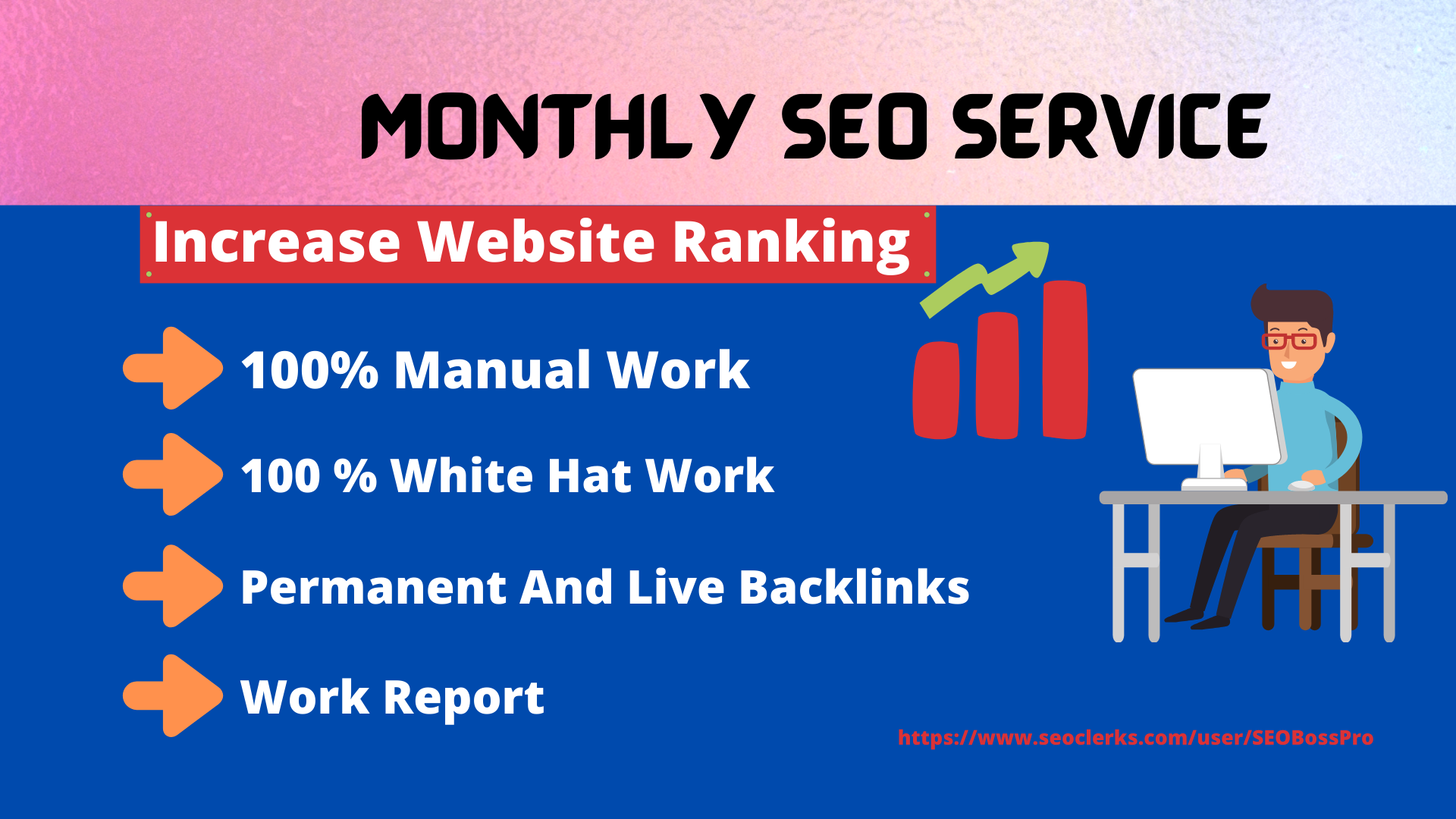 I will create manually white hat monthly SEO service higher ranking in google