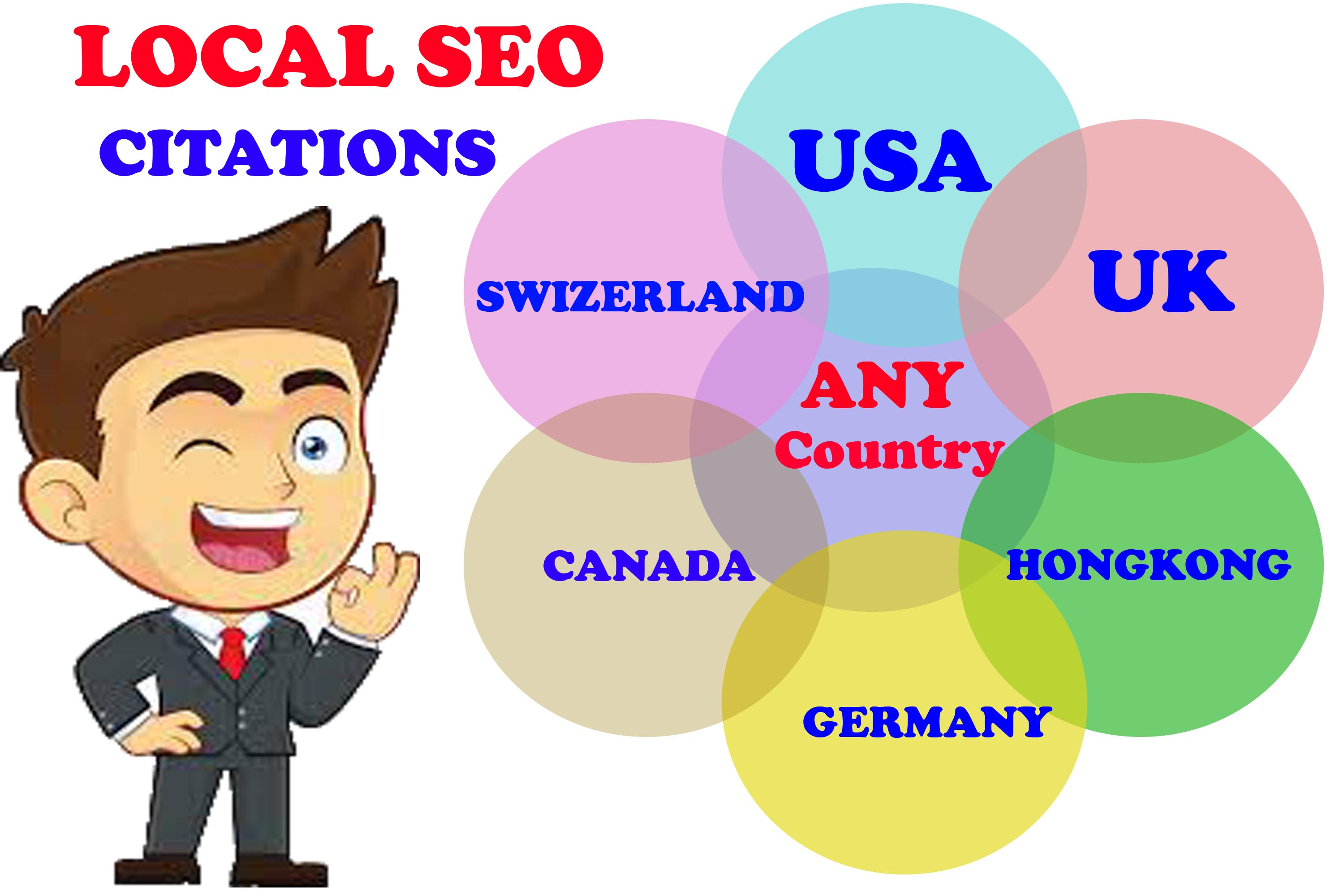I will do manually top 20 local citations directory For Any Country local SEO