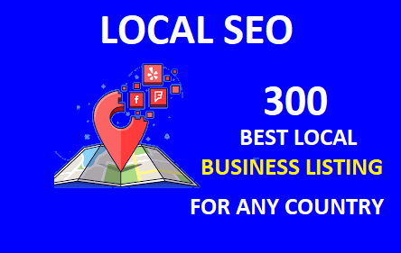 Create manually top 300 local citation or local seo,  business listing for any country