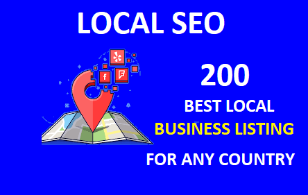 I will do best 200 local citation or local seo,  business listing for any country