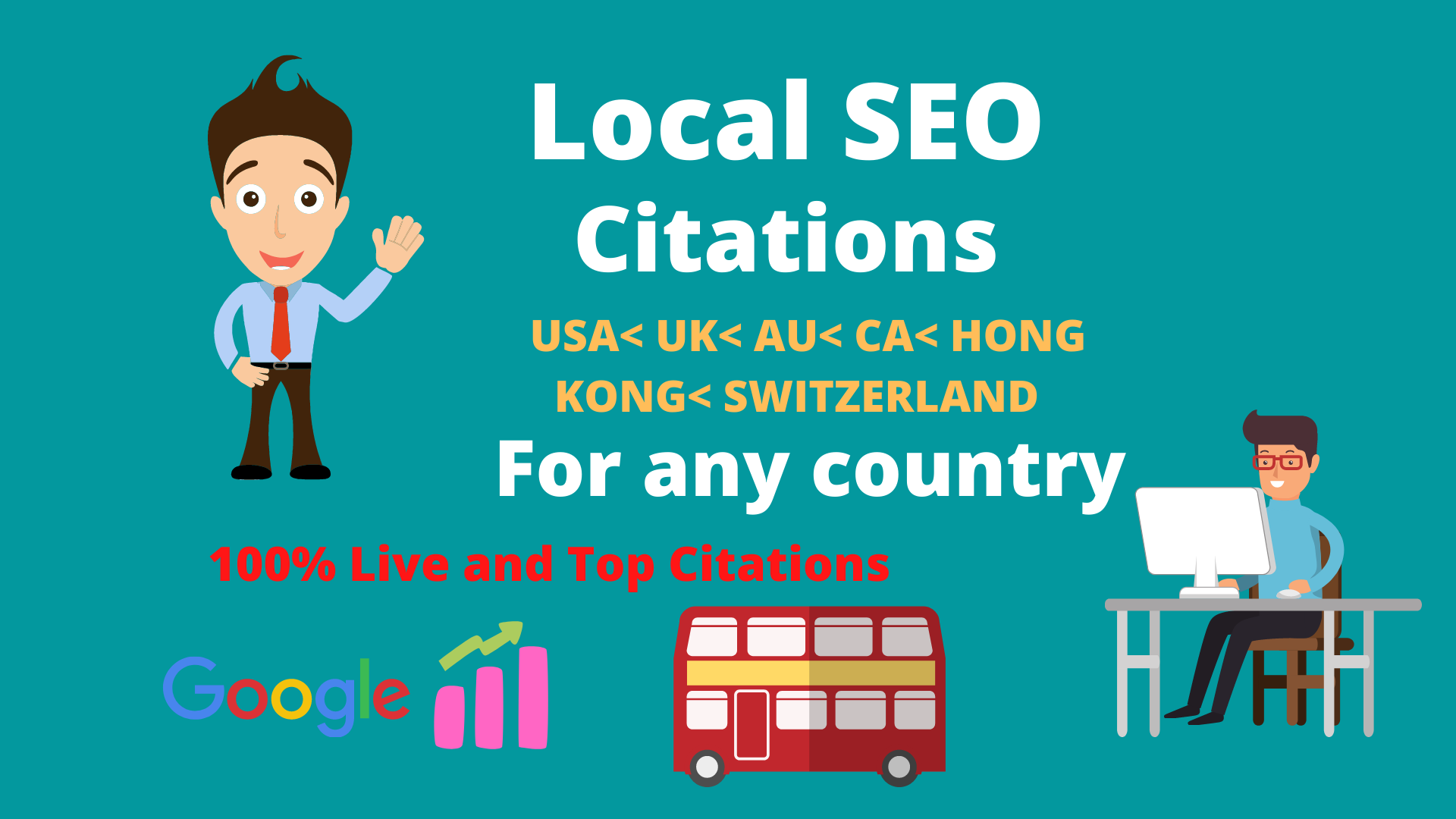 Create top 35 Live local citations or local SEO for any country