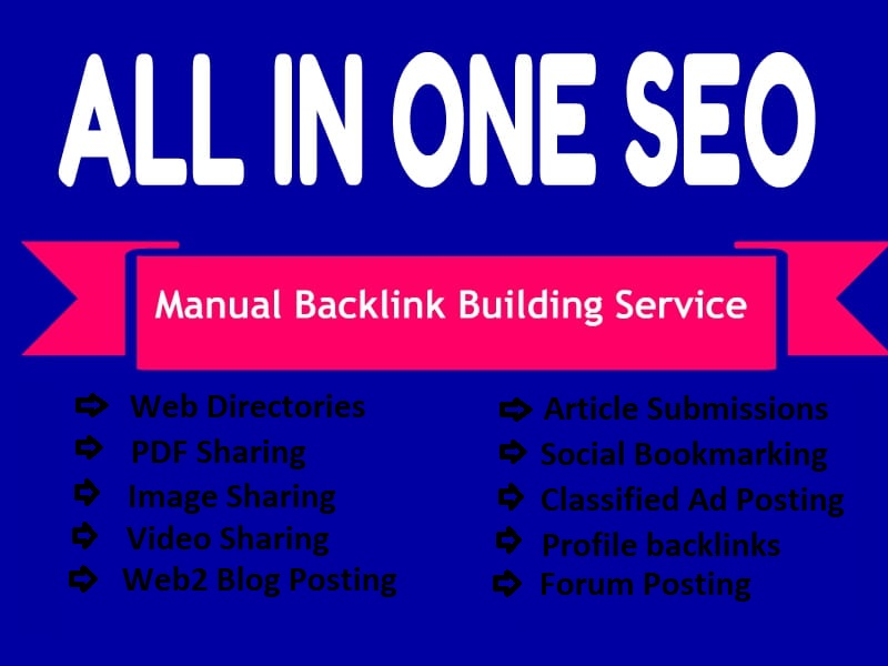 All In One Manual SEO backLinks Building Service 2021