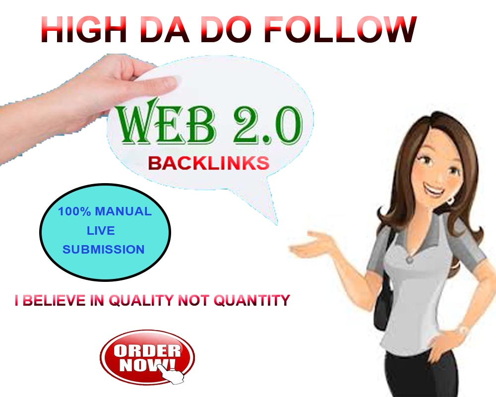 Create 25 High Quality Web 2.0 Backlinks for your website