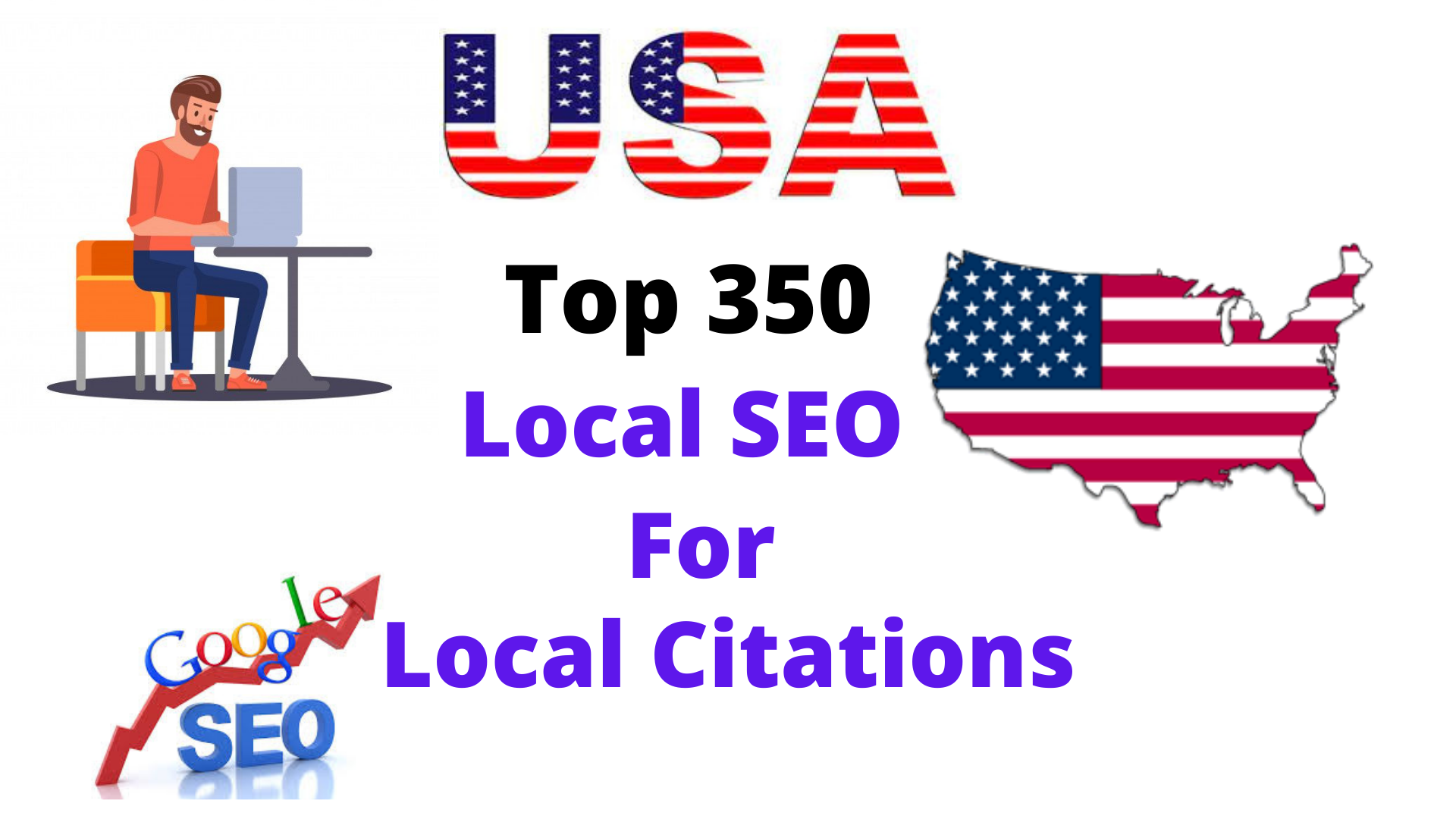 I will create Live Top 350 USA local citation or local SEO,  map listing for your website