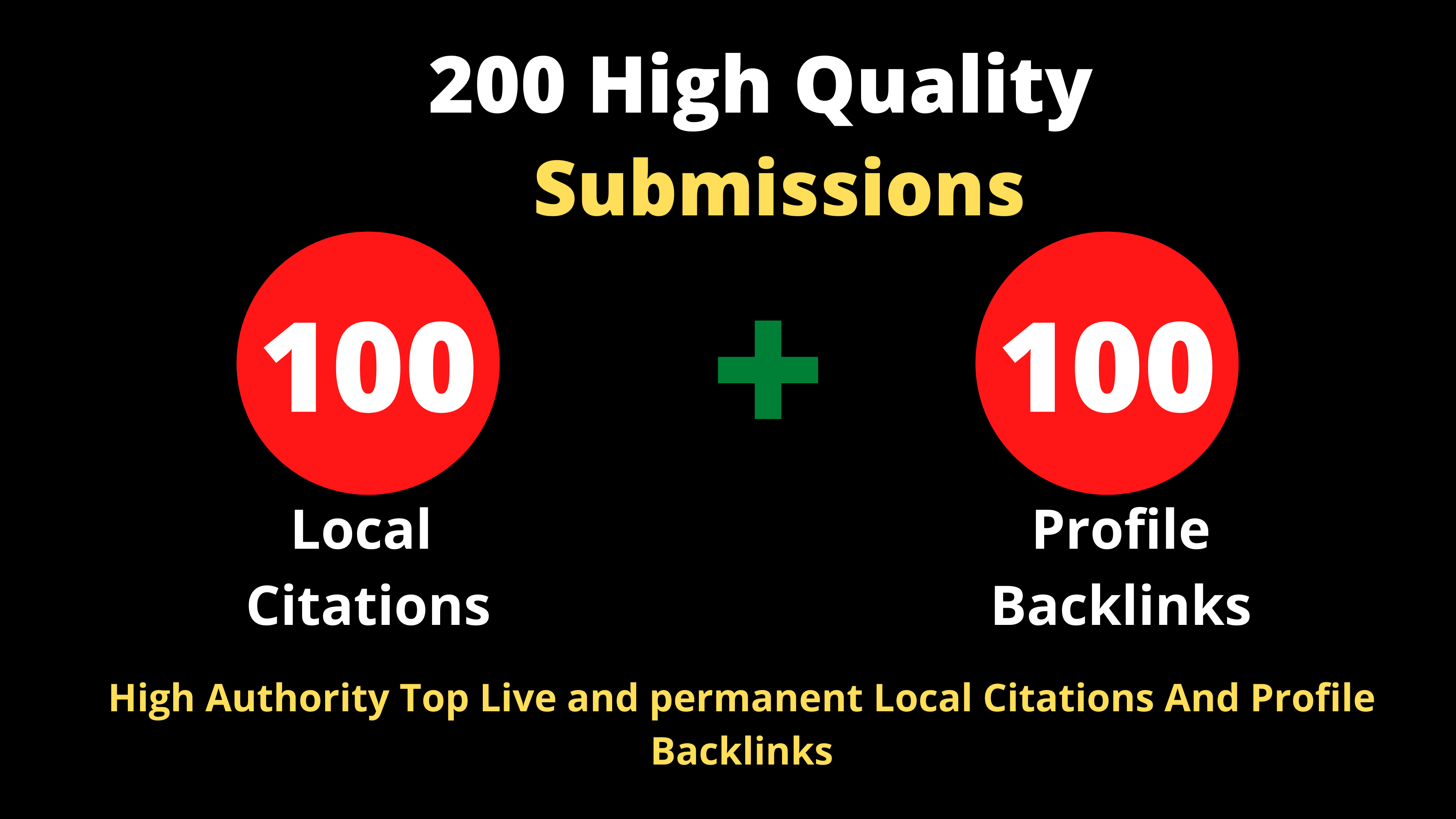 100 Top Local citations + 100 High Authority Profile Backlinks To Boost Your Website Ranking