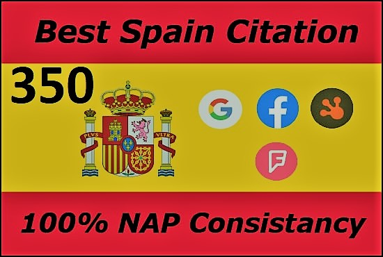I will do manually 350 Spain local citation or local SEO for your website