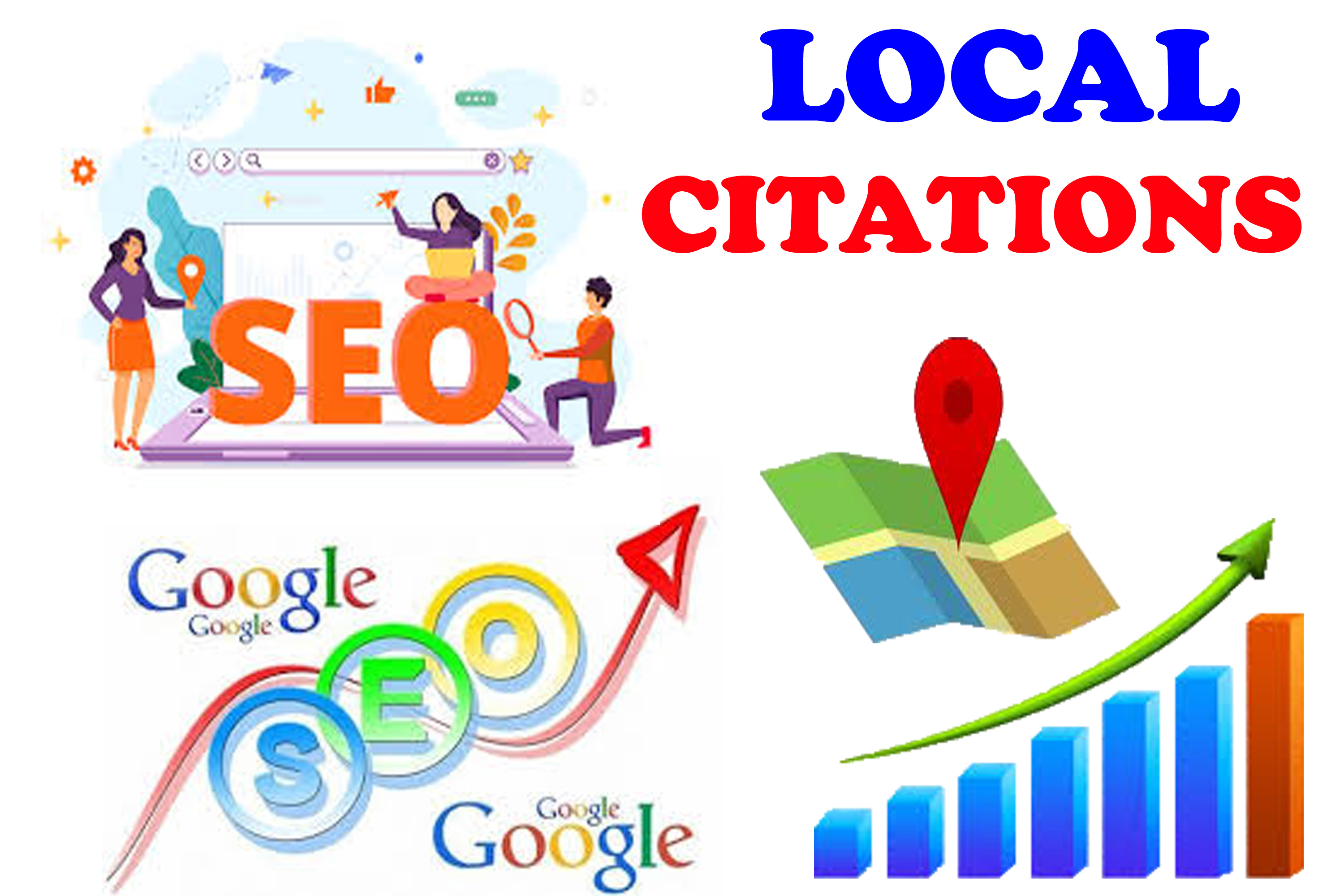 Create Live 60 top local citations or local SEO Switzerland,  Sweden,  China,  UAE for any country