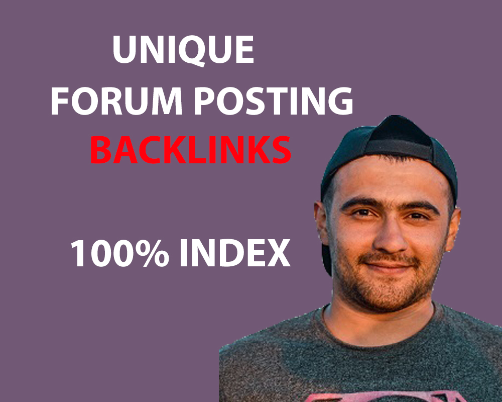 100 percent index Manually 50+ Forum Posting SEO Backlinks For your website