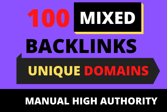 I will create 100 authority Unique domanis 8 different paltforms mixed backlinks