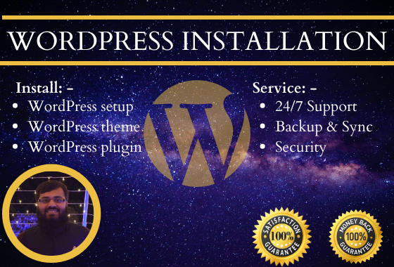 I will install wordpress with theme and plugins in 12 hours