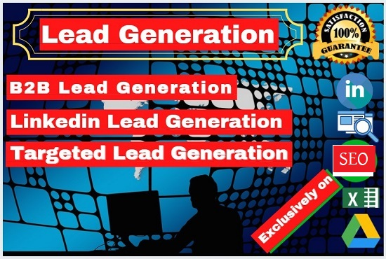 I will do 100 targeted LinkedIn lead generation and B2B lead generation at 3 Days