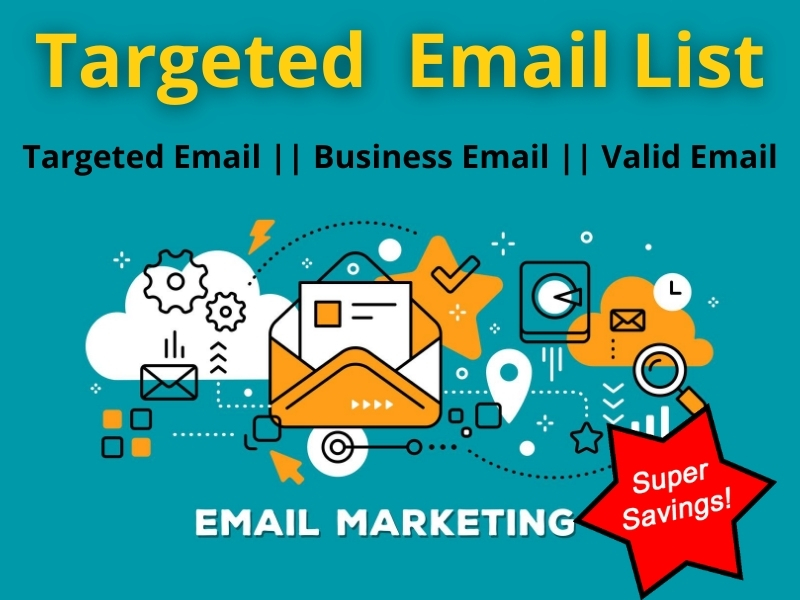 I will provide 1000 Targeted Email List for Marketing