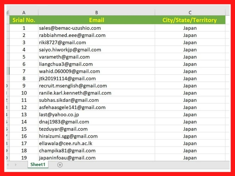 I will provide 1000 Targeted Valid Email List for Marketing