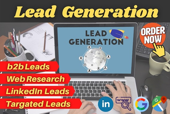 I will do 100 Targeted b2b Lead Generation for your business