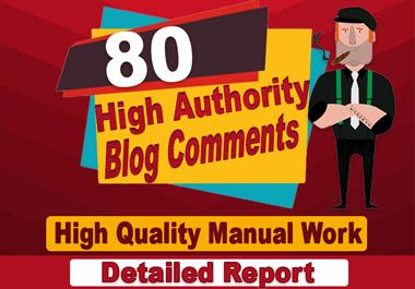make 80 SEO blog comments on high DA PA links